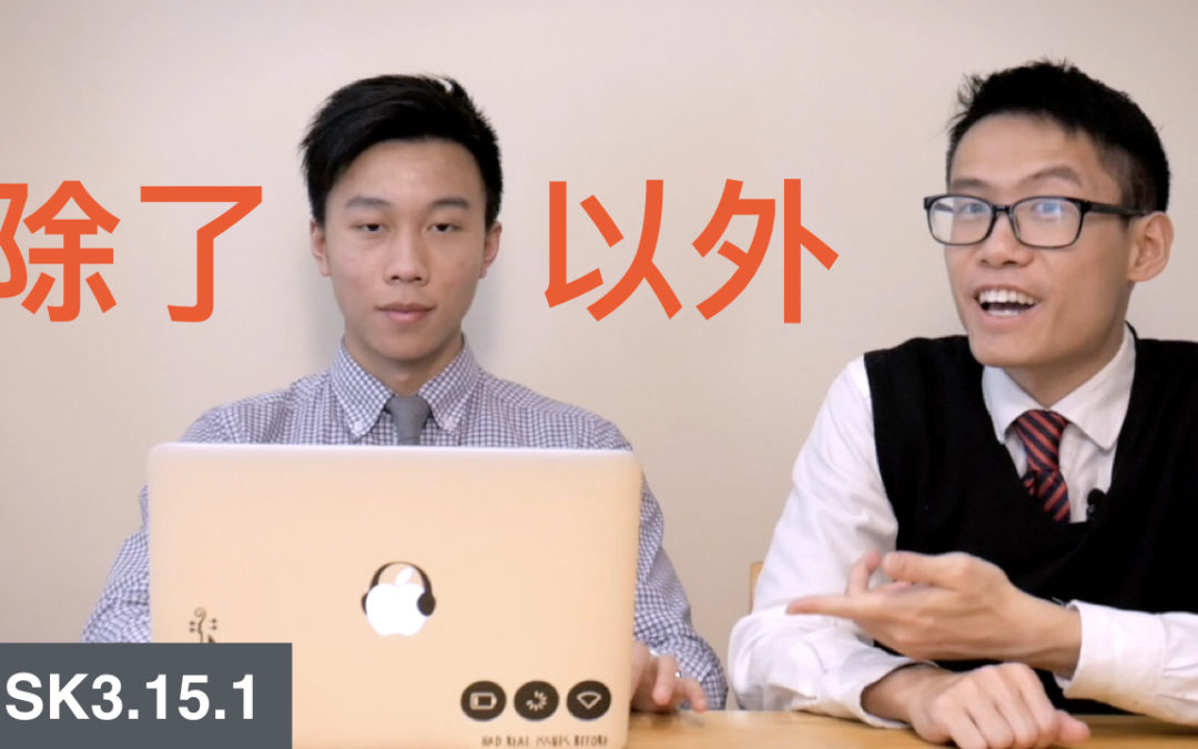 HSK 3 Intermediate Chinese Grammar 3.15.1 Exceptions and additions with 除了……以外