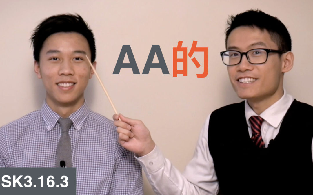 HSK 3 Intermediate Chinese Grammar 3.16.3 Expressing Characteristics with AA的