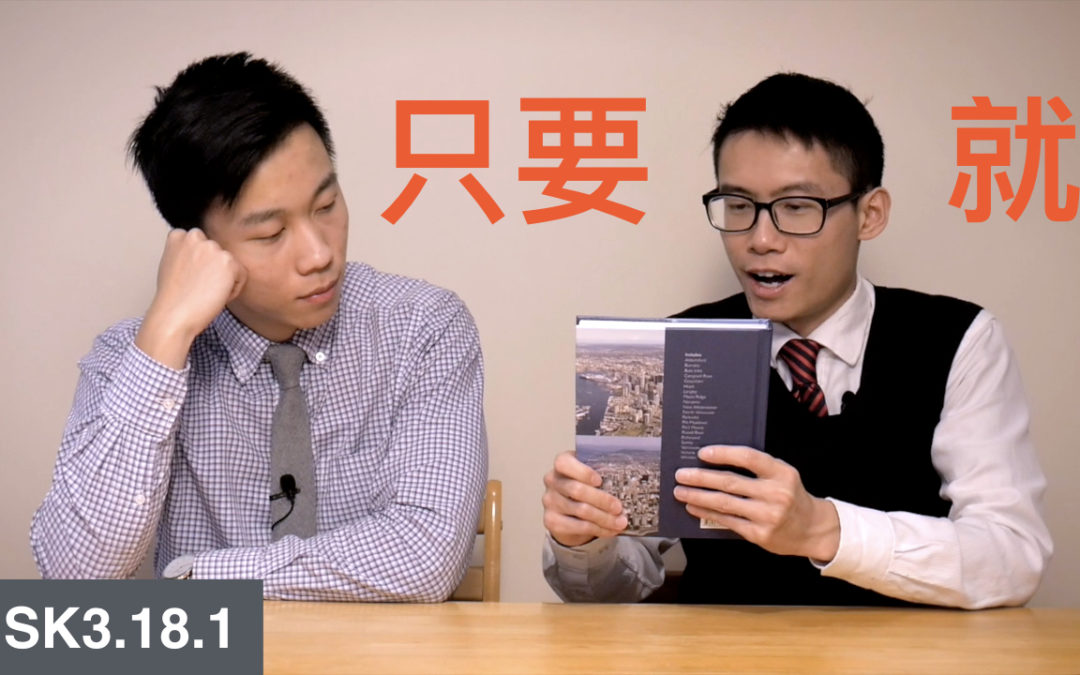 HSK 3 Intermediate Chinese Grammar 3.18.1 Expressing conditions with 只要…… 就……