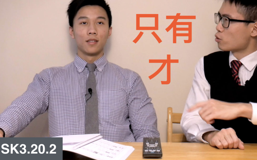 HSK 3 Intermediate Chinese Grammar 3.20.2 Expressing Conditions with 只有…… 才……