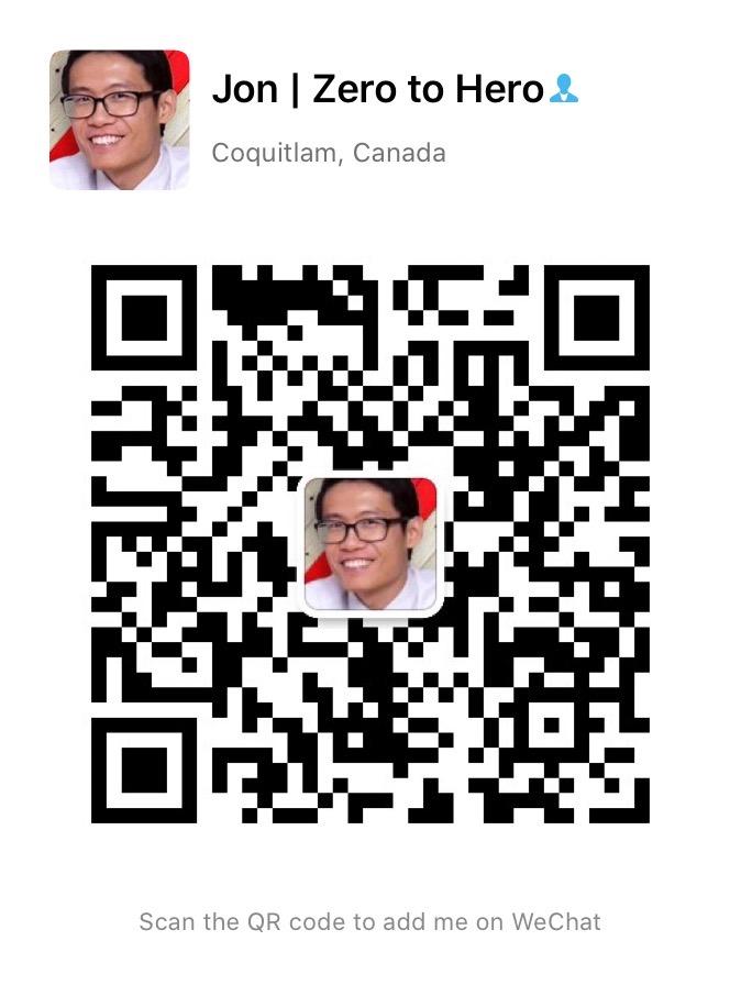 Jon's WeChat QR Code